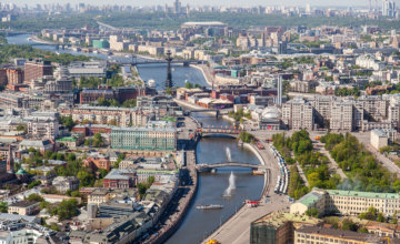 Moscow walking routes. Along the Moscow River